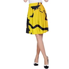 Halloween Night Terrors A Line Skirt