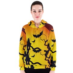 Halloween Night Terrors Women s Zipper Hoodie