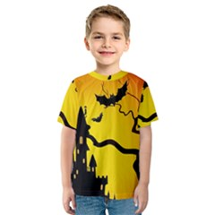 Halloween Night Terrors Kids  Sport Mesh Tee