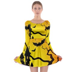 Halloween Night Terrors Long Sleeve Skater Dress