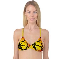 Halloween Night Terrors Reversible Tri Bikini Top