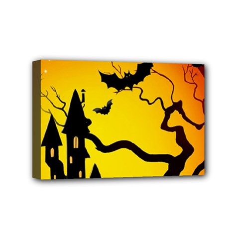 Halloween Night Terrors Mini Canvas 6  X 4