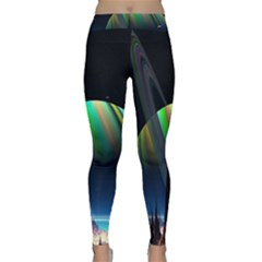 Planets In Space Stars Classic Yoga Leggings