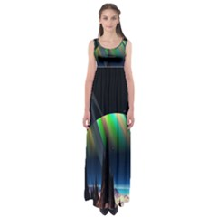 Planets In Space Stars Empire Waist Maxi Dress