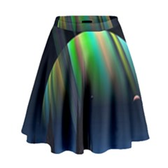 Planets In Space Stars High Waist Skirt