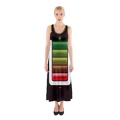 Black Energy Battery Life Sleeveless Maxi Dress