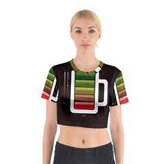 Black Energy Battery Life Cotton Crop Top