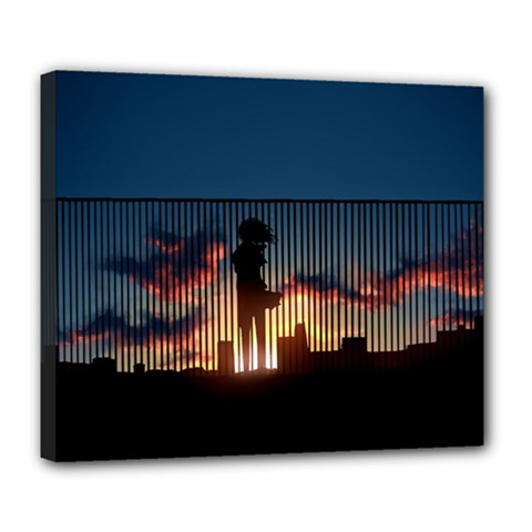 Art Sunset Anime Afternoon Deluxe Canvas 24  X 20