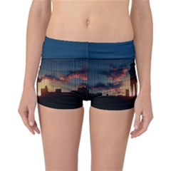 Art Sunset Anime Afternoon Reversible Boyleg Bikini Bottoms