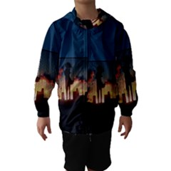 Art Sunset Anime Afternoon Hooded Wind Breaker (kids)