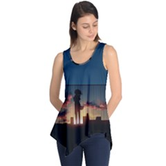 Art Sunset Anime Afternoon Sleeveless Tunic