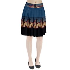 Art Sunset Anime Afternoon Pleated Skirt