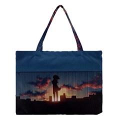 Art Sunset Anime Afternoon Medium Tote Bag