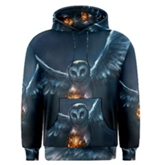 Owl And Fire Ball Men s Pullover Hoodie