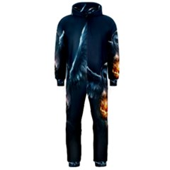 Owl And Fire Ball Hooded Jumpsuit (men)