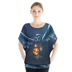 Owl And Fire Ball Blouse