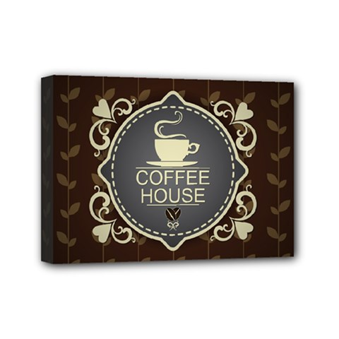 Coffee House Mini Canvas 7  X 5
