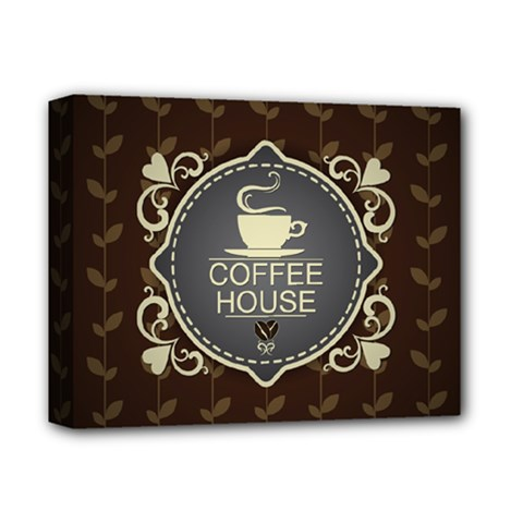 Coffee House Deluxe Canvas 14  X 11