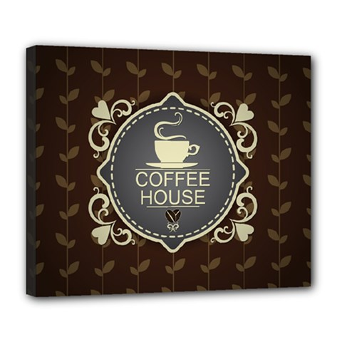 Coffee House Deluxe Canvas 24  X 20