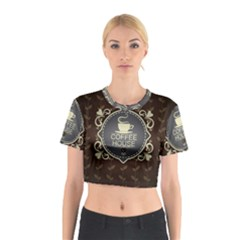 Coffee House Cotton Crop Top