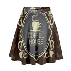 Coffee House High Waist Skirt