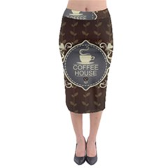 Coffee House Midi Pencil Skirt