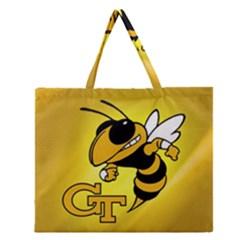 Georgia Institute Of Technology Ga Tech Zipper Large Tote Bag