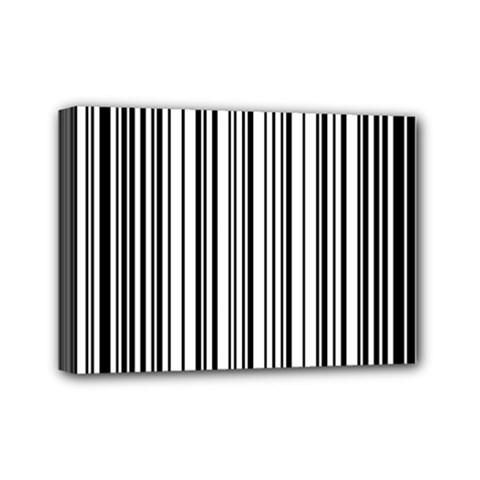 Barcode Pattern Mini Canvas 7  X 5
