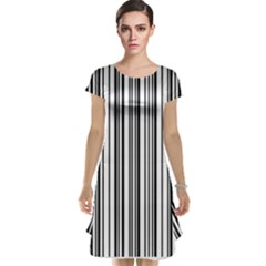 Barcode Pattern Cap Sleeve Nightdress