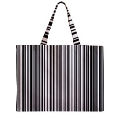 Barcode Pattern Medium Zipper Tote Bag