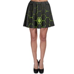 Green Android Honeycomb Gree Skater Skirt