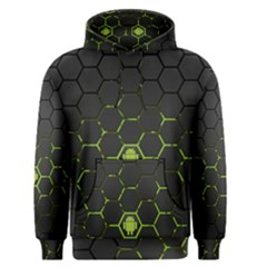 Green Android Honeycomb Gree Men s Pullover Hoodie