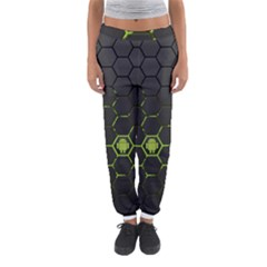 Green Android Honeycomb Gree Women s Jogger Sweatpants