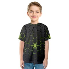 Green Android Honeycomb Gree Kids  Sport Mesh Tee