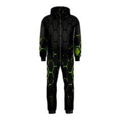 Green Android Honeycomb Gree Hooded Jumpsuit (kids)