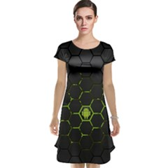Green Android Honeycomb Gree Cap Sleeve Nightdress