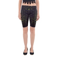 Green Android Honeycomb Gree Yoga Cropped Leggings