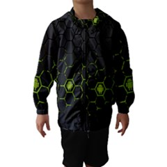 Green Android Honeycomb Gree Hooded Wind Breaker (kids)