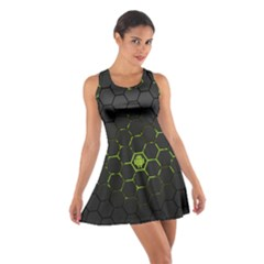Green Android Honeycomb Gree Cotton Racerback Dress