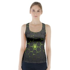 Green Android Honeycomb Gree Racer Back Sports Top
