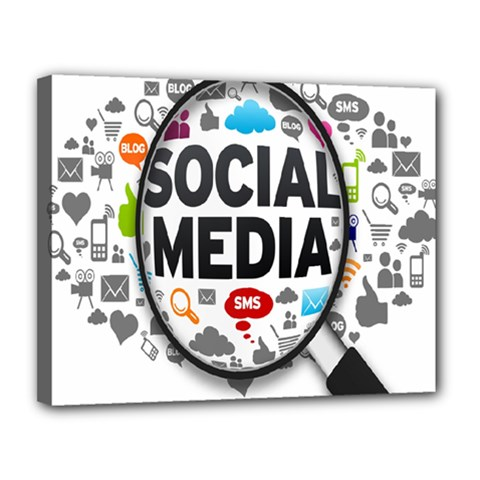 Social Media Computer Internet Typography Text Poster Canvas 14  X 11
