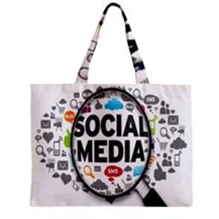 Social Media Computer Internet Typography Text Poster Zipper Mini Tote Bag