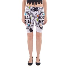 Social Media Computer Internet Typography Text Poster Yoga Cropped Leggings