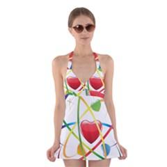 Love Halter Swimsuit Dress