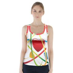 Love Racer Back Sports Top