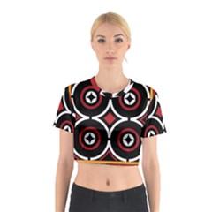 Toraja Pattern Ne limbongan Cotton Crop Top
