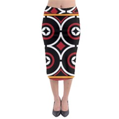 Toraja Pattern Ne limbongan Midi Pencil Skirt