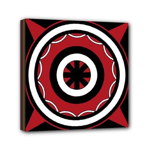 Toraja Pattern Pa barre Allo Mini Canvas 6  X 6