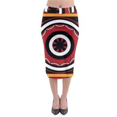 Toraja Pattern Pa barre Allo Midi Pencil Skirt