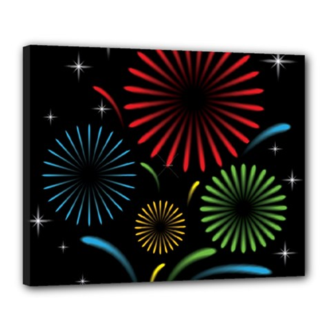Fireworks With Star Vector Canvas 20  X 16